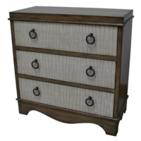 Donovan 3 Drawer Two Tone Grooved Drawer Fronts