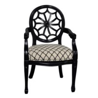 Wingate Black Pattern Spiderback Chair