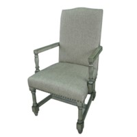 Baroque Linen Arm Chair