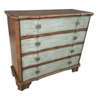 Felicity 4 Drawer 2 Tone Shaped Front Chest