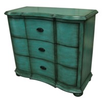 Anna Sky Blue 3 Shaped Drawer Chest