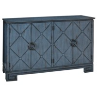 Carmichael 4 Door Scored Front Slate Grey Sideboard