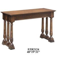 Manchester 6 Turned Post Oak Console Table