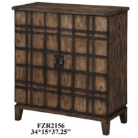 Fairfax Plaid Oak 2 Door Cabinet