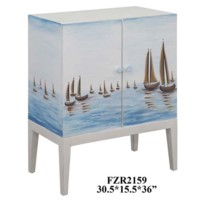Harbor View 2 Door Sailboat Cabinet