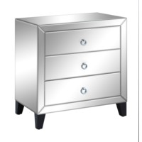 Bentley 3 Drawer Beveled Mirrord Chest
