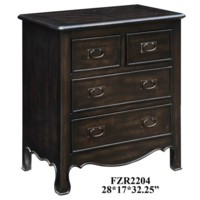 Woodbridge 4 Drawer Dark Oak Chest