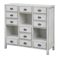 Coventry White 12 Drawer Cup Pull Tall Chest