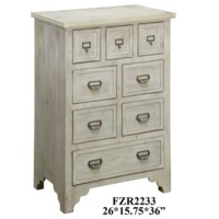 Falls Creek 8 Drawer Natural Finish Chest