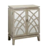 Biscayne Light Oak 2 Mirrored Design Door Cabinet