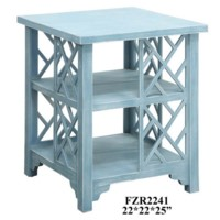 Southport Sky Blue Chippendale Square End Table