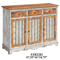 Stafford Metal and Wood 3 Drawer / 3 Door Sideboard