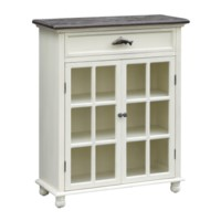 White River 2 Door Glass Cabinet, 1 Drawer Trout Hardware