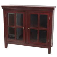 Fulton 2 Glass Door Red Cabinet
