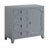 Eloise Pale Grey 4 Drawer, 1 Door Split Cabinet