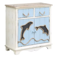 Dolphin Island 2 Drawer, 2 Door Cabinet