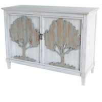 Sherman Oak 2 Door Raised Tree Cabinet