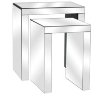 Fletcher Beveled Mirror Nested Tables