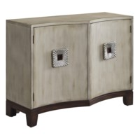 Georgetown 2 Shaped Door Antique Ivory Cabinet