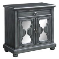 Twilight Hourglass Mirror 2 Door Cabinet