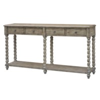 York Sandstone Rope Twist 4 Drawer Console