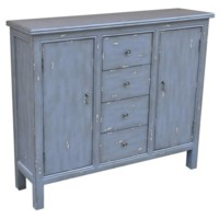Richmond Textured Smokey Blue 4 Drawer / 2 Door Cabinet