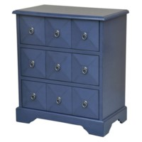 Portsmouth 3 Drawer Pyramid Front Indigo Chest