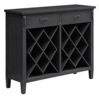 Quincy Pale Grey 2 Drawer Open Wine Cabinet