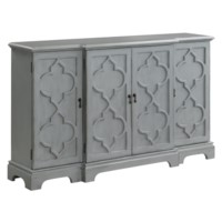 Bennington 4 Door Breakfront Grey Sideboard