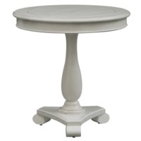 Newport Coastal White Round Accent Table
