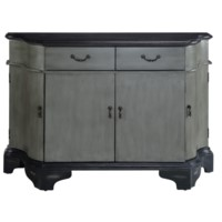 Cavanaugh Rich Two Tone Shaped 2 Drawer, 4 Door Credenza