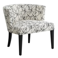 Hudson Ebony Crazy Pattern Lounge Chair
