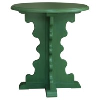 Greenery Shaped Leg Accent Table