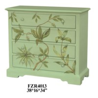 Botanic Celadon Floral 4 Drawer Chest