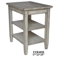 Bledsoe White Ash Tier Chairside Table