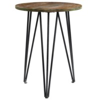 Rockport Rustic Wood and Metal Accent Table