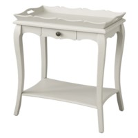 Bella Pale Grey 1 Drawer Shaped Removeable Trey Top Accent Table