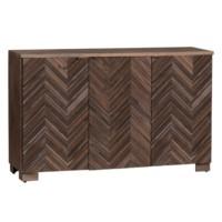 Jackson Raised 3 Door Chevron Rustic Wood Sideboard