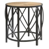 Van Buren Metal and Rustic Wood End Table
