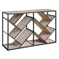 Seville Metal and Wood Angled Console