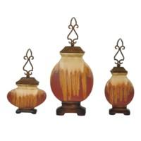 Dexter Ceramic Lidded Vases