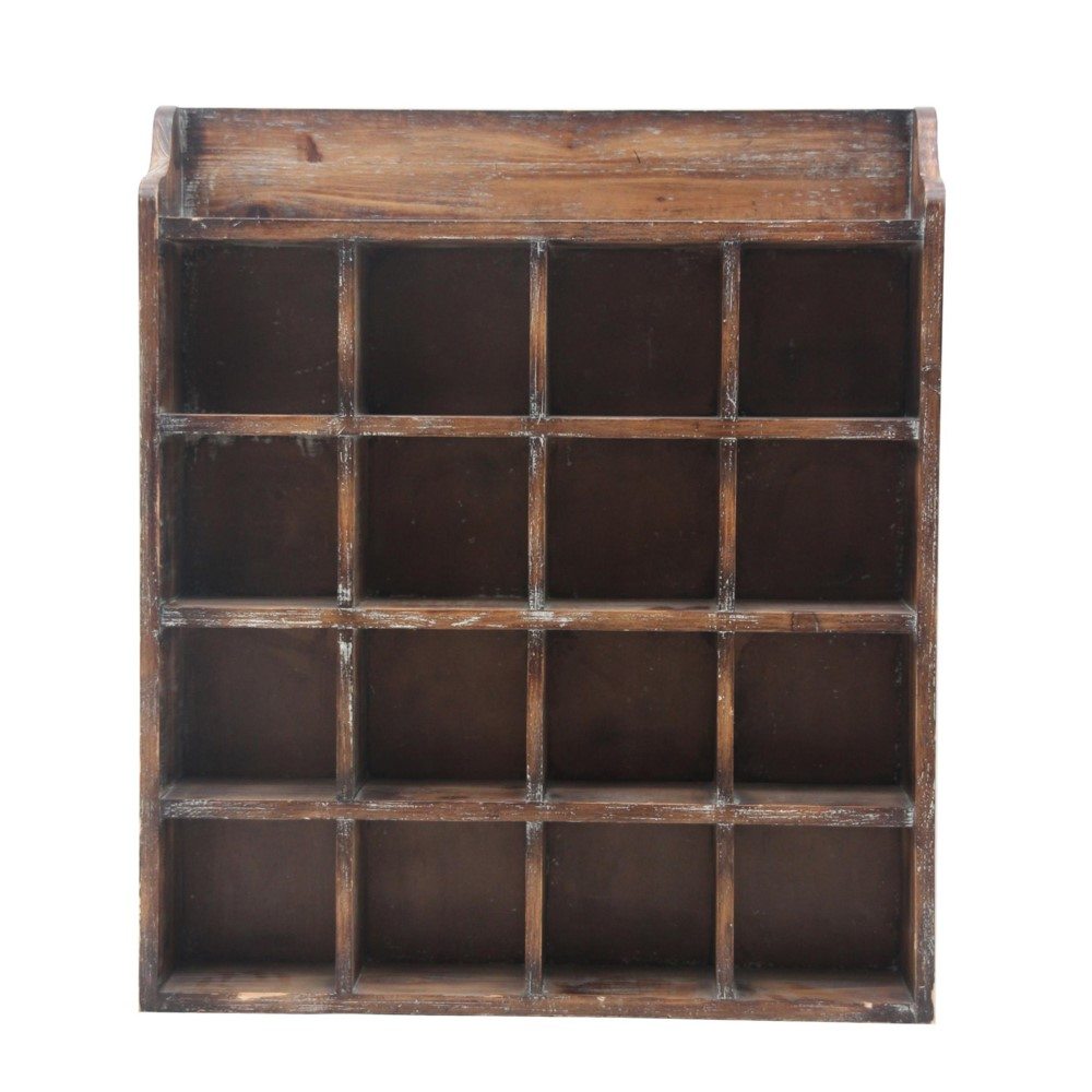 Two new quot distressed wood wall shelf holder mail box