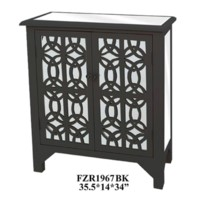 BLACK TWO DOOR CABINET