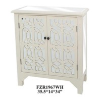 WHITE TWO DOOR CABINET