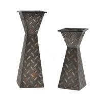 Diamond Plated Candleholders