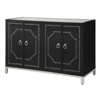 Roxbury Nailhead Black Sideboard