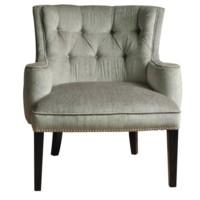Fifth Ave Textured Silver Nailhead Chair