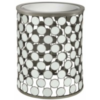 Melrose Circle Mirror Accent Table