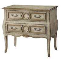 Victoria 2 Drawer Bombe Chest