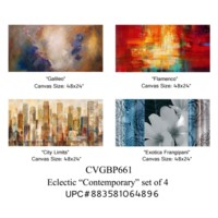 Eclectic contemporary set of 4